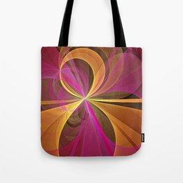 Luminous Colors, Abstract Fractal Art Tote Bag