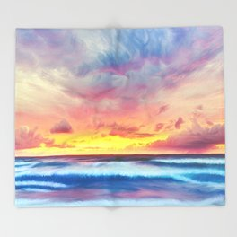 Lonas planet stormy evening Throw Blanket