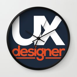 UX Designer Wall Clock