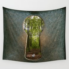 Alice in Wonderland Follow Me Wall Tapestry