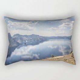 Crater Lake with a view of the Phantom Ship Rectangular Pillow