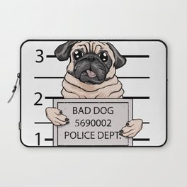 mugshot dog cartoon. Laptop Sleeve
