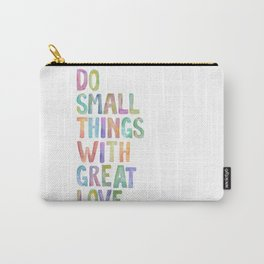 Do Small Things With Great Love, Mother Teresa Print, Mother Teresa Quote, Floral Quotes Wall Art, I Carry-All Pouch
