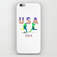 usa iPhone & iPod Skins featuring USA by Robin Curtiss