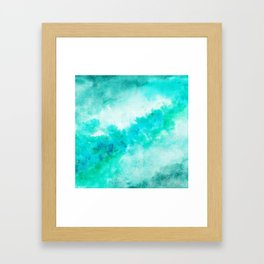 SEA GREEN GALAXY Framed Art Print