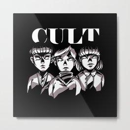 Cult kids creepy kids vintage look horror gifts Metal Print