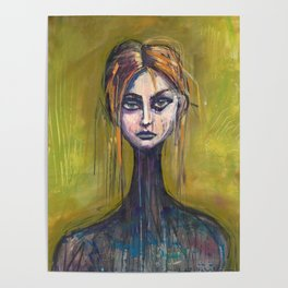 WOMAN ON GREEN Poster