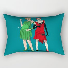 Poison Ivy & Harley Quinn Rectangular Pillow