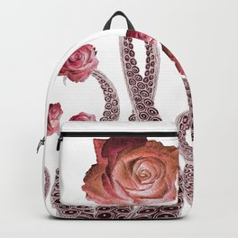 Floral Octopus Tentacles with Roses Backpack
