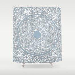 Dedication to Dalton (gray-blue) Shower Curtain