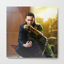 Tom & Loki Metal Print