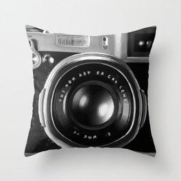 Camera Cover Throw Pillow