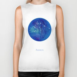 Constellation Aquarius Biker Tank