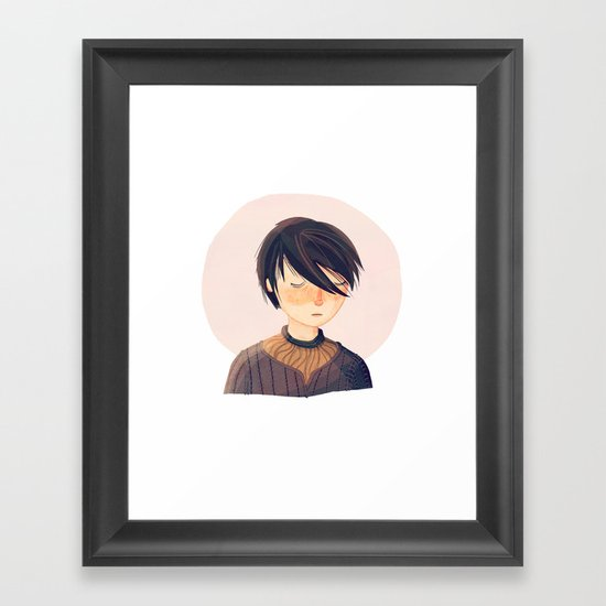 There Is Only One Thing We Say To Death Framed Art Print