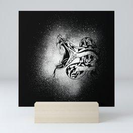 Splash Sea Snake Venomous Snake Reptile Motif Mini Art Print