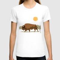 bison T-shirts featuring Bison by Emre Özbay