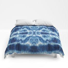 Tie Dye Blues Twos Comforters