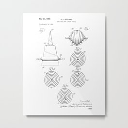 Appliance for Linear Bodies Vintage Patent Drawing Metal Print