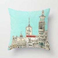 toronto Throw Pillows featuring Toronto by Nayoun Kim