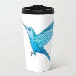 Blue hummingbird colibri Travel Mug