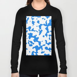 Large Spots - White and Dodger Blue Long Sleeve T-shirt