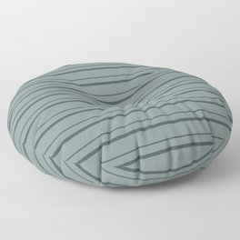 Night Watch PPG1145-7 Horizontal Stripes Pattern 3 on Scarborough Green PPG1145-5 Floor Pillow