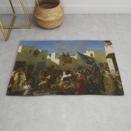 """Eugène Delacroix """"The Fanatics of Tangier"""" Rug"""