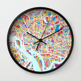 Washington DC Street Map Wall Clock