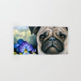 Dog 133 Pug Hand & Bath Towel