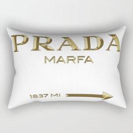 Golden PradaMarfa sign Rectangular Pillow