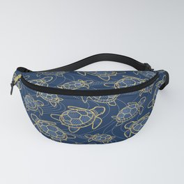 Japanese Pond Turtle / Dark Blue Fanny Pack
