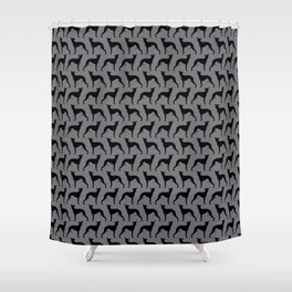 Whippet Silhouette Shower Curtain