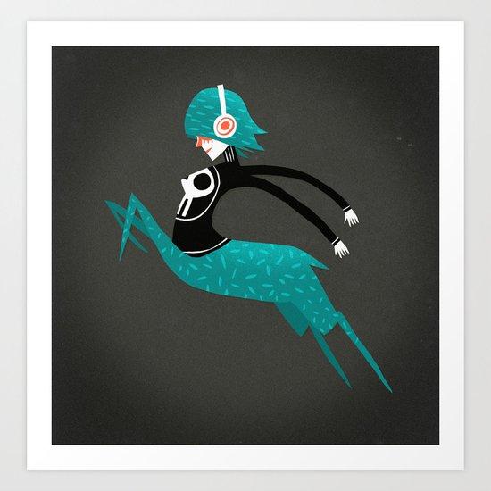 Centaura with music Art Print