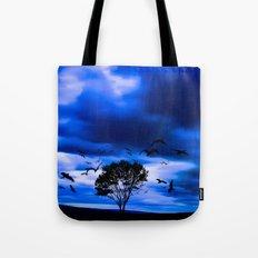Blue Fantasy Tote Bag