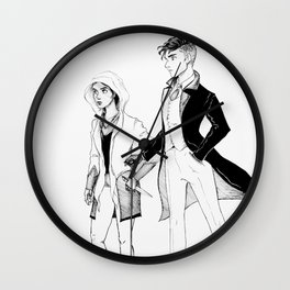 Kaz and Inej Wall Clock