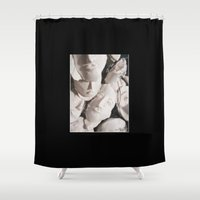 mask Shower Curtains featuring Mask by Darkest Devotion