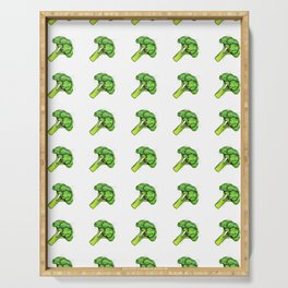 Broccoli Painting Eat Your Veggies Series Serving Tray
