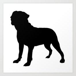 Bullmastiff Silhouette Art Print