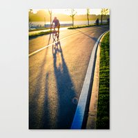 seoul Canvas Prints featuring Seoul Cycling by Aaron Frey