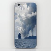 duvet cover iPhone & iPod Skins featuring AMAZING CLOUD DUVET COVER by aztosaha