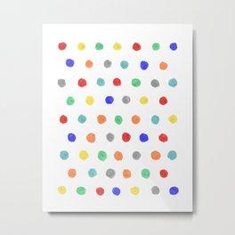 Watercolor dots Metal Print