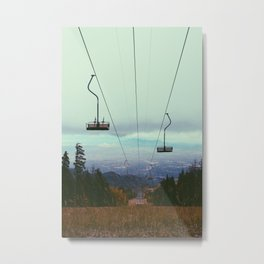 From the city to the mountain top Metal Print