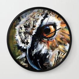 Great Horned Owl. wildlife. nature. bird. owl. Wall Clock
