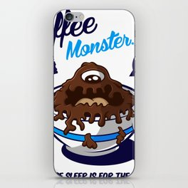 Coffee Monster Blue iPhone Skin