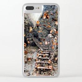 Infinite beautiful Jungle Clear iPhone Case