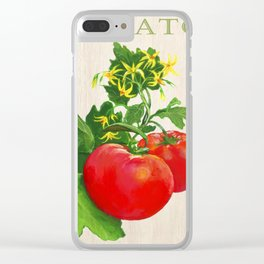 Tomato and its Blossom Clear iPhone Case