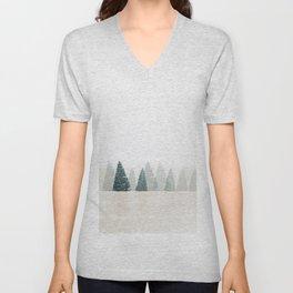 Snowy Pines Unisex V-Neck