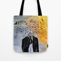 Man-Birds Tote Bag