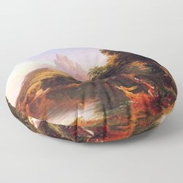 Voyage of Life: No. 2 of 4 Youth by Thomas Cole Floor Pillow