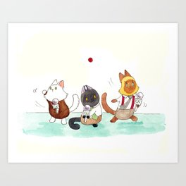 Wanted: One red dot Art Print